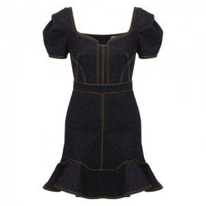 Джинсовое платье Alexander McQueen. Цвет: чёрный