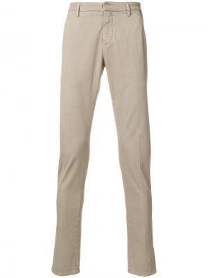 Классические брюки-чинос Dondup. Цвет: коричневый