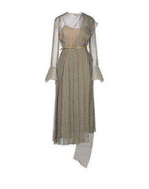 Платье длиной 3/4 FENDI. Цвет: хаки