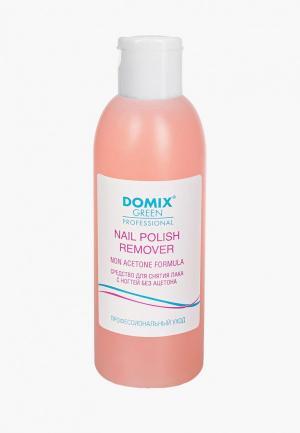 Средство для снятия лака Domix NAIL POLISH REMOVER NON ACETONE FORMULA, без ацетона. Цвет: прозрачный