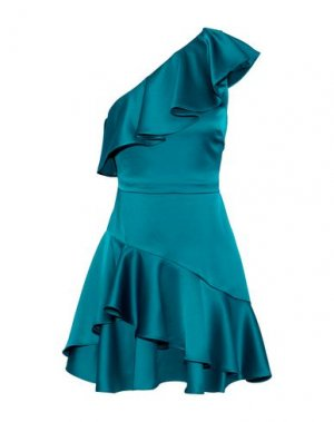 Короткое платье HALSTON. Цвет: цвет морской волны