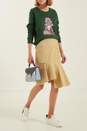 Комбинированная сумка Sloan Michael Kors. Цвет: голубой