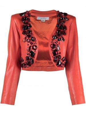 Декорированное болеро 1980-х годов Yves Saint Laurent Pre-Owned. Цвет: красный