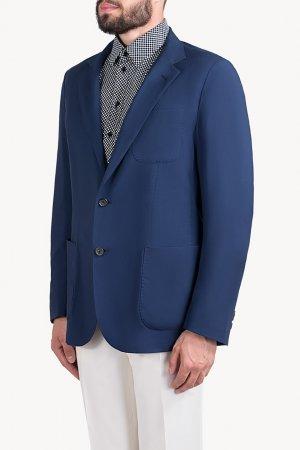 Пиджак с тремя накладными карманами Colombo. Цвет: синий