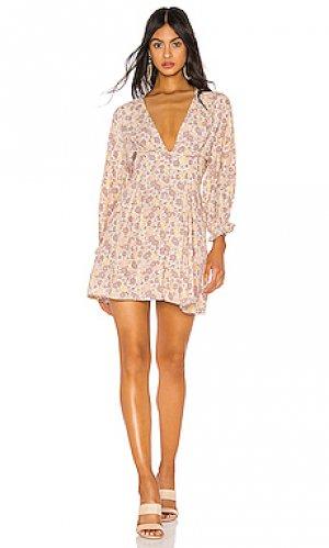 Платье palmaro FAITHFULL THE BRAND. Цвет: коричневый