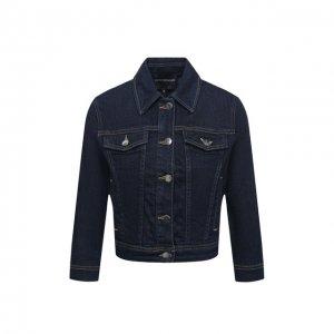 Джинсовая куртка Emporio Armani. Цвет: синий