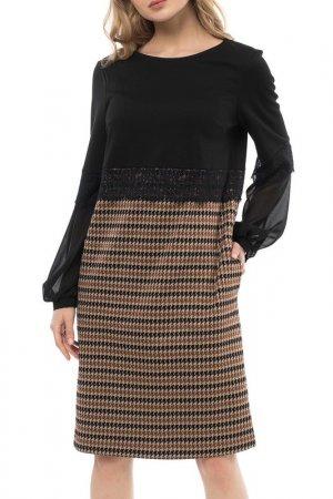 Платье Argent. Цвет: мультиколор, черный