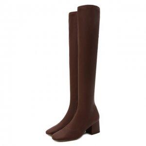Кожаные ботфорты Carols BY FAR. Цвет: коричневый