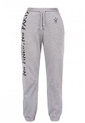 Спортивные брюки PINKO. Цвет: серый