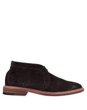 Полусапоги и высокие ботинки ALDEN. Цвет: темно-коричневый