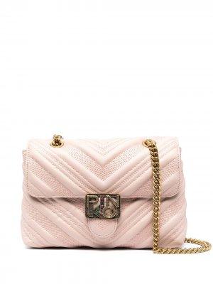 Сумка через плечо с логотипом Pinko. Цвет: розовый