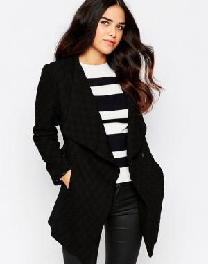 Фактурная куртка с запахом спереди Rare. Цвет: черный