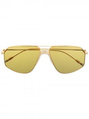 Солнцезащитные очки-авиаторы Jagger Jacques Marie Mage. Цвет: золотистый