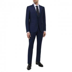 Шерстяной костюм Ermenegildo Zegna. Цвет: синий