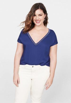Блуза Violeta by Mango - RAMOS5. Цвет: синий