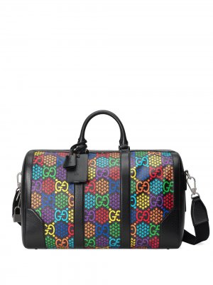 Дорожная сумка с узором GG Psychedelic Gucci. Цвет: черный