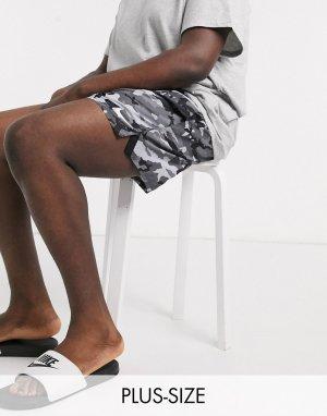 Волейбольные шорты 5 дюймов с монохромным камуфляжным принтом Plus-Серый Nike Swimming