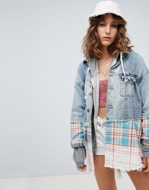 Джинсовая куртка с отделкой Sirius Free People. Цвет: мульти