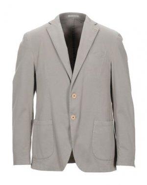 Пиджак CITY TIME. Цвет: светло-серый