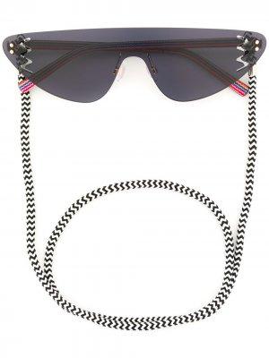 Солнцезащитные очки-авиаторы M Missoni. Цвет: синий