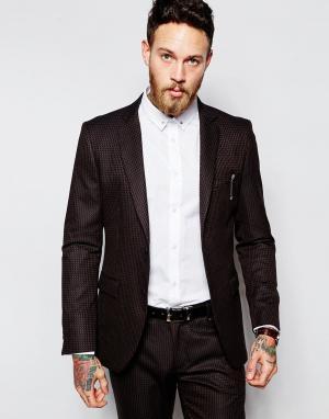 Пиджак зауженного кроя Sisley. Цвет: bordeaux