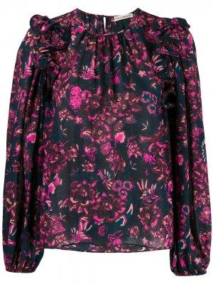 Блузка с цветочным принтом Ulla Johnson. Цвет: фиолетовый