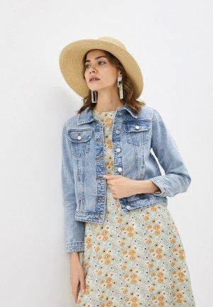 Куртка джинсовая Baon. Цвет: голубой