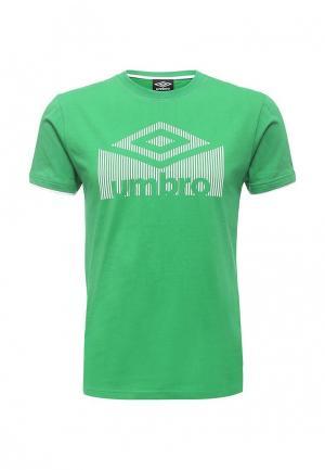 Футболка Umbro LOGO TEE. Цвет: зеленый