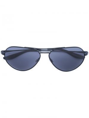 Солнцезащитные очки авиаторы Barton Perreira. Цвет: чёрный
