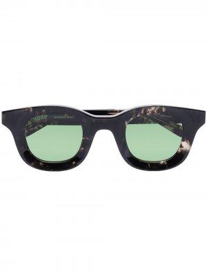 Солнцезащитные очки из коллаборации с Rhude Rhodeo 620 Thierry Lasry. Цвет: зеленый