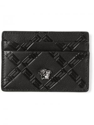 Кошельки и визитницы Versace. Цвет: чёрный