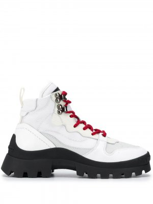Ботинки на шнуровке Dsquared2. Цвет: белый