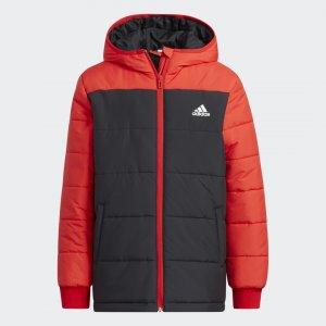 Утепленная куртка Winter Sportswear adidas. Цвет: красный