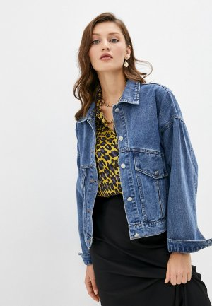 Куртка джинсовая Dorogobogato. Цвет: синий