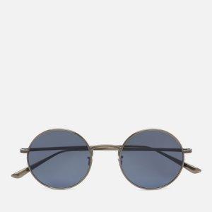 Солнцезащитные очки  Row After Midnight Oliver Peoples. Цвет: голубой