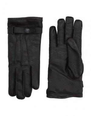 Перчатки BELSTAFF. Цвет: черный
