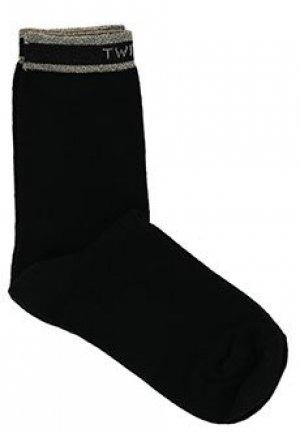Носки TWINSET. Цвет: черный