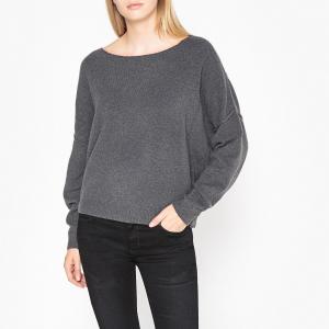 Пуловер из хлопка и кашемира с вырезом-лодочкой DAMSVILLE AMERICAN VINTAGE. Цвет: бордовый меланж,горчичный,хаки
