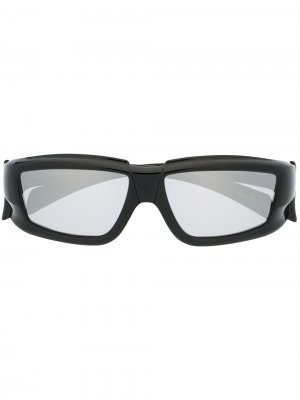 Солнцезащитные очки в квадратной оправе Rick Owens. Цвет: черный