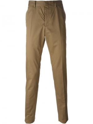 Классические брюки-чиносы Lanvin. Цвет: коричневый