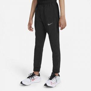 Брюки для тренинга из тканого материала мальчиков школьного возраста Dri-FIT - Черный Nike