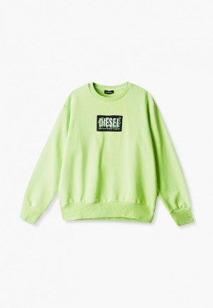 Свитшот Diesel. Цвет: зеленый