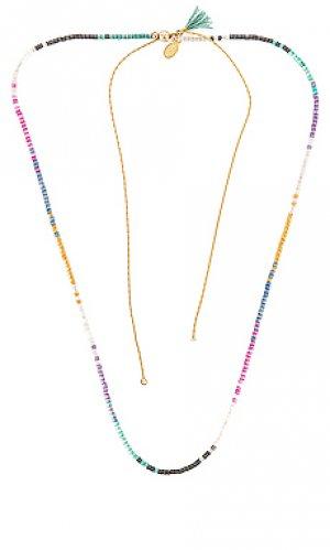 Ожерелье rainbow SHASHI. Цвет: pink,yellow