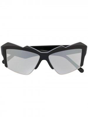 Массивные солнцезащитные очки Philipp Plein. Цвет: черный