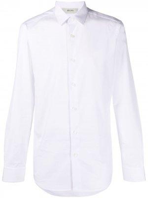 Рубашка с длинными рукавами Z Zegna. Цвет: белый