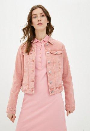 Куртка джинсовая Jacqueline de Yong. Цвет: розовый