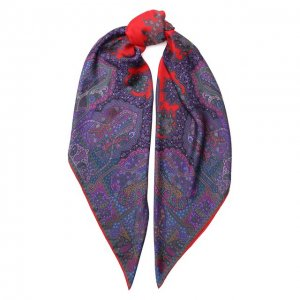 Шелковый платок Michele Binda. Цвет: красный