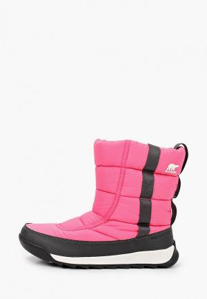 Дутики Sorel YOUTH WHITNEY™ II PUFFY MID. Цвет: розовый