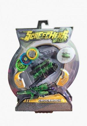 Игрушка Росмэн Дикие Скричеры. Машинка-трансформер Крокшок л2 ТМ Screechers Wild. Цвет: зеленый