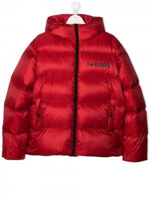 Logo padded coat Dsquared2 Kids. Цвет: красный